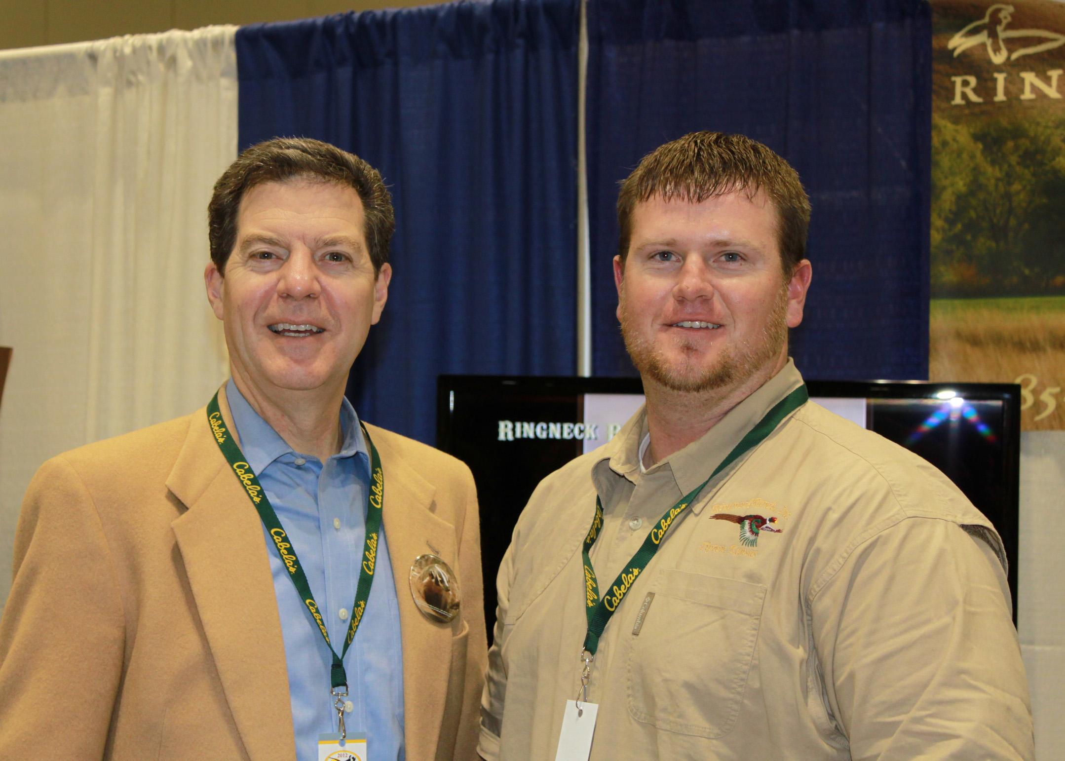 Kansas Governor Sam Brownback & RIngneck Operations Manager Zach Miller