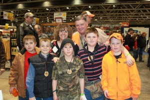 The Dill Family, who were recent first time hunters at Ringneck, stopped by the booth to say hi at Pheasant Fest 2012.