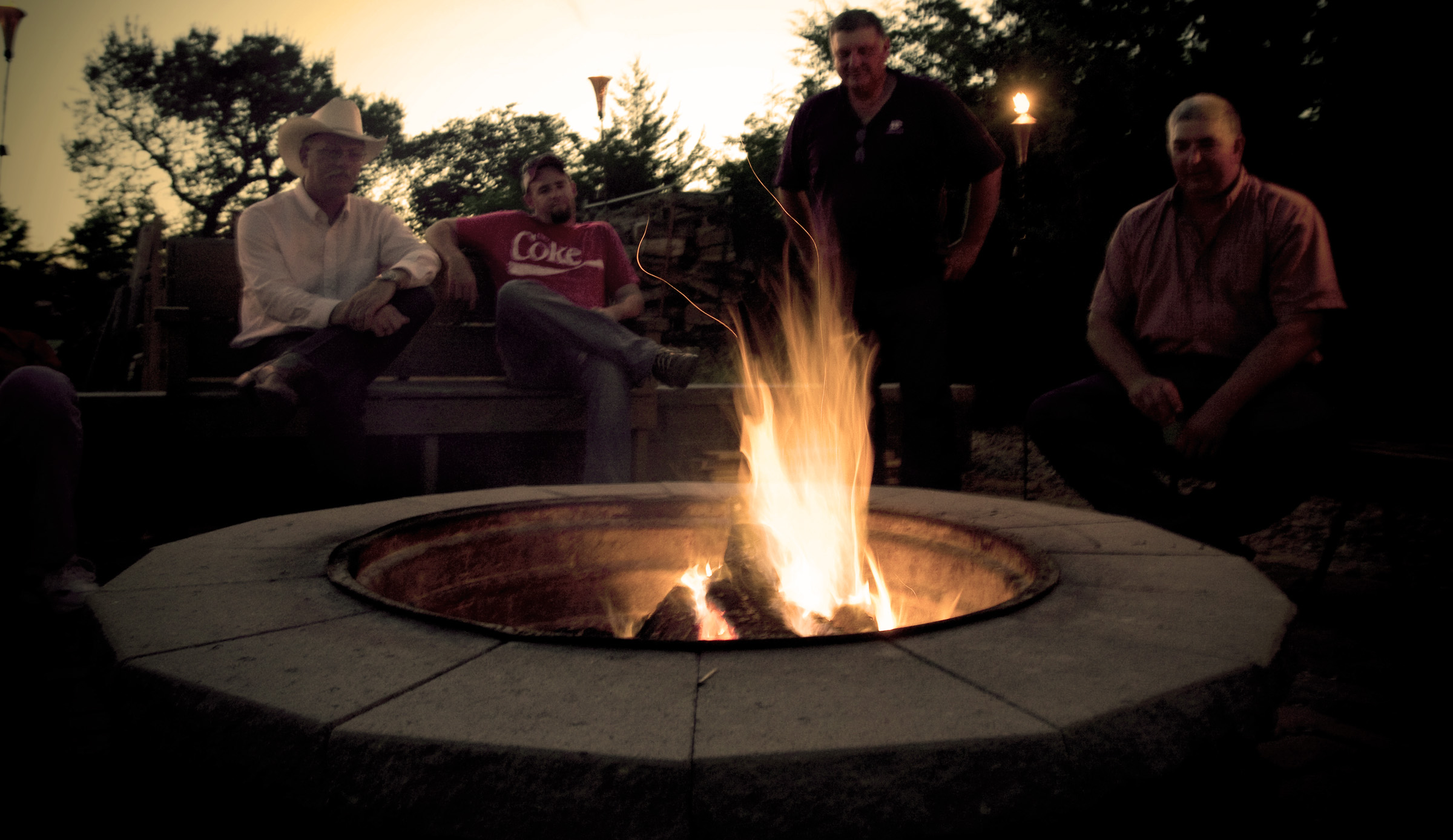 Hanging out around the firepit